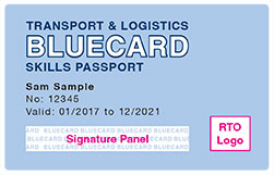 Example Bluecard - WHS for the Transport and Logistics Industry